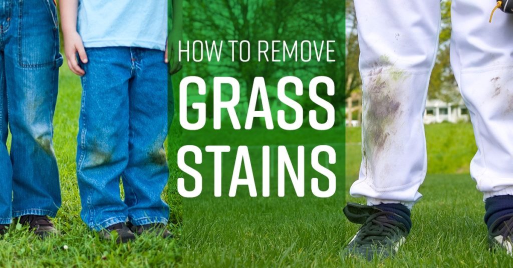 HOW TO GET GRASS STAINS OUT OF JEANS
